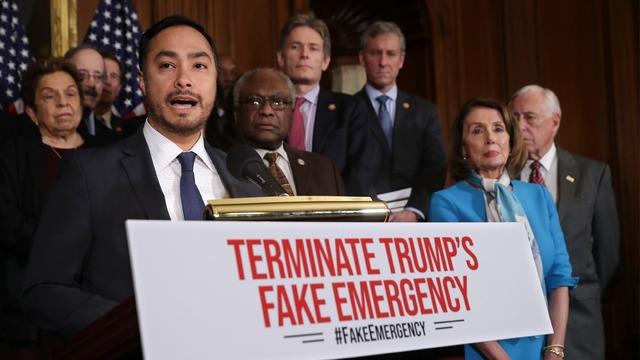 House OKs Democrats' bill blocking Trump emergency on wall - Story   KTTV