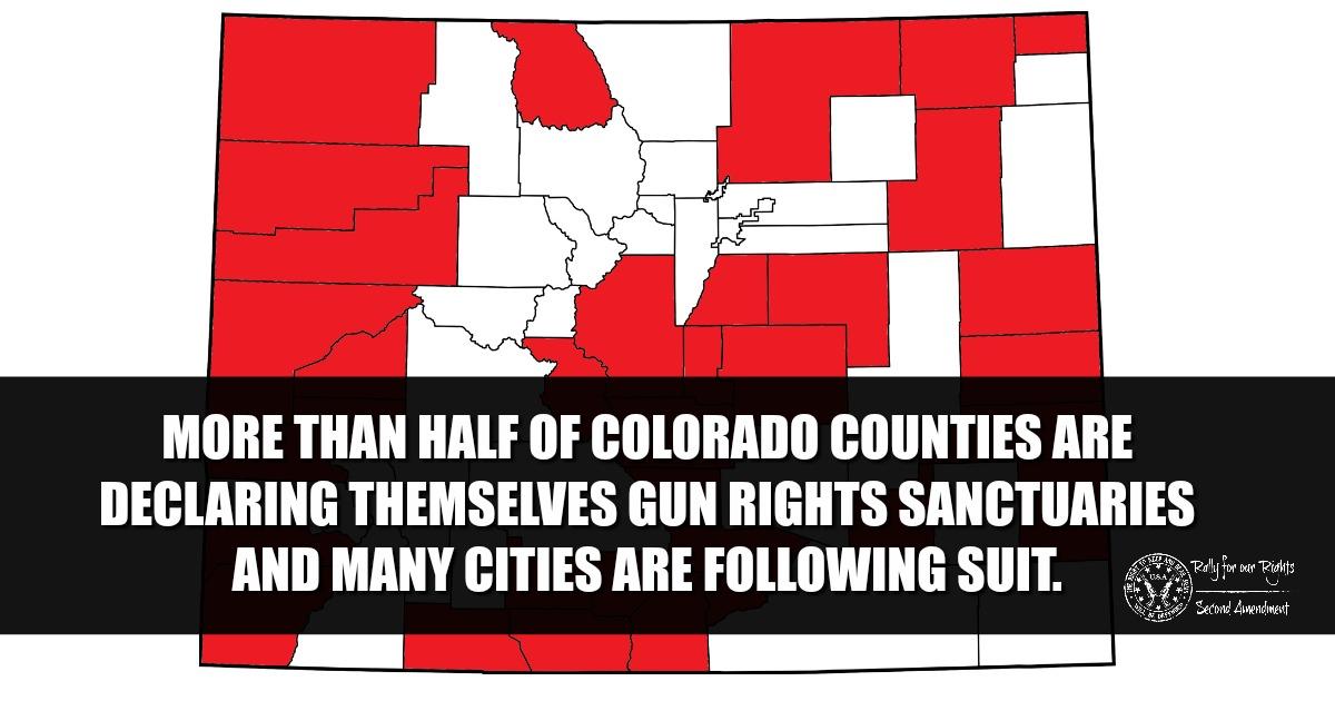 More Than Half Colorado Counties Say WE WILL NOT COMPLY To Red Flag Law Should It Pass - Rally for our Rights