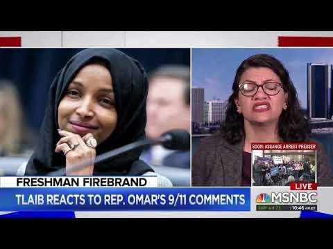 Arab Congressmuslim Rashida Tlaib (D-MI) defends Somali Congressmuslim Ilhan Omar's (D-MN) latest America-hating remarks