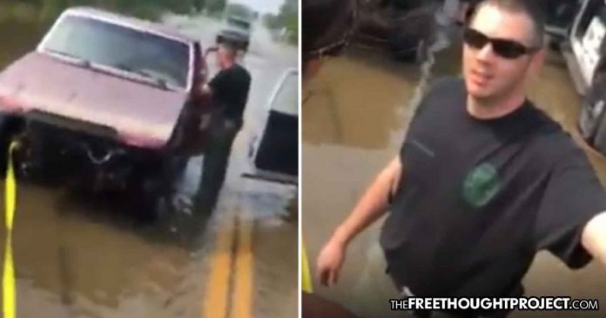 Oklahoma: Cop Caught on Video Harassing, Fining Flood Victims for Trying to Help Each Other » Sons of Liberty Media