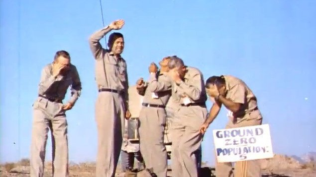 Seriously: Five Men Unanimously Decide to Stand Underneath an Exploding Nuclear Bomb