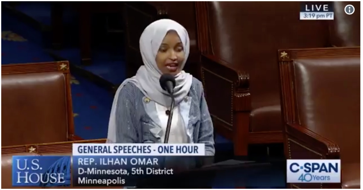 Terror-Tied Rep. Ilhan Omar Attacks Christians On House Floor - Freedom Outpost