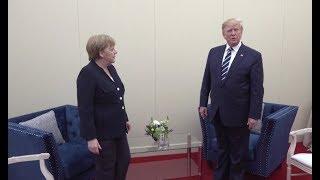 Ziemlich beste Feinde? - Kein Handshake für Merkel bei Treffen mit Trump in Großbritannien