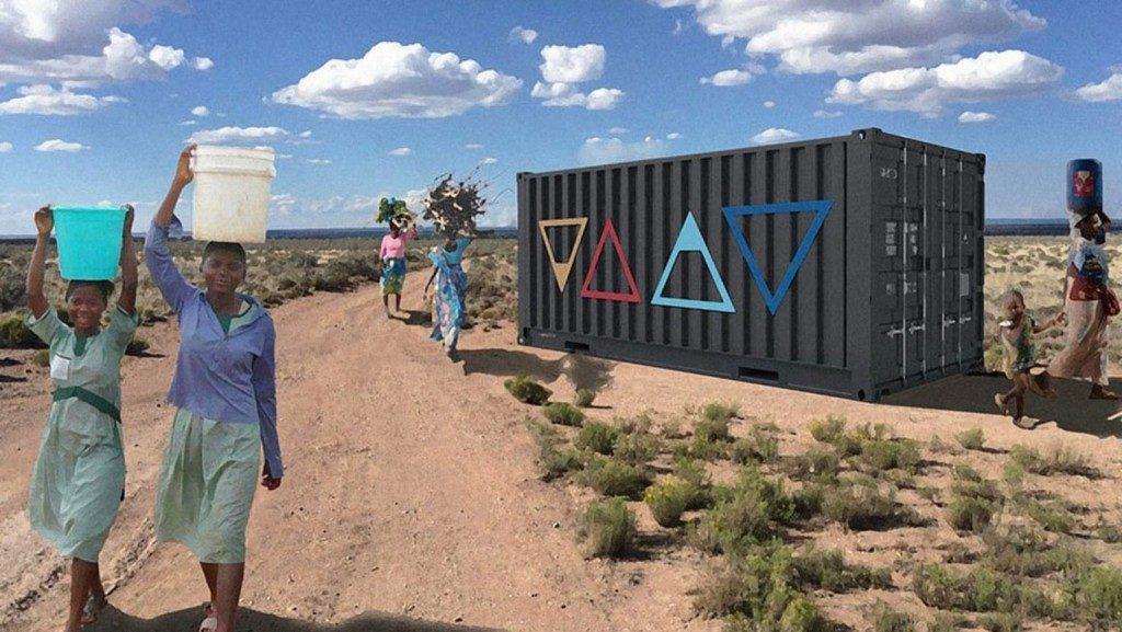 Sauber und preiswert: Dieser Container gewinnt täglich 2.000 Liter Trinkwasser aus der Luft
