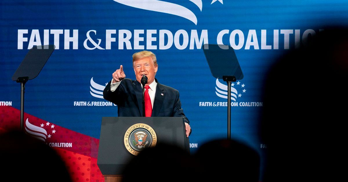 'We've Got Your Back,' Trump tells Evangelical and Catholic Leaders