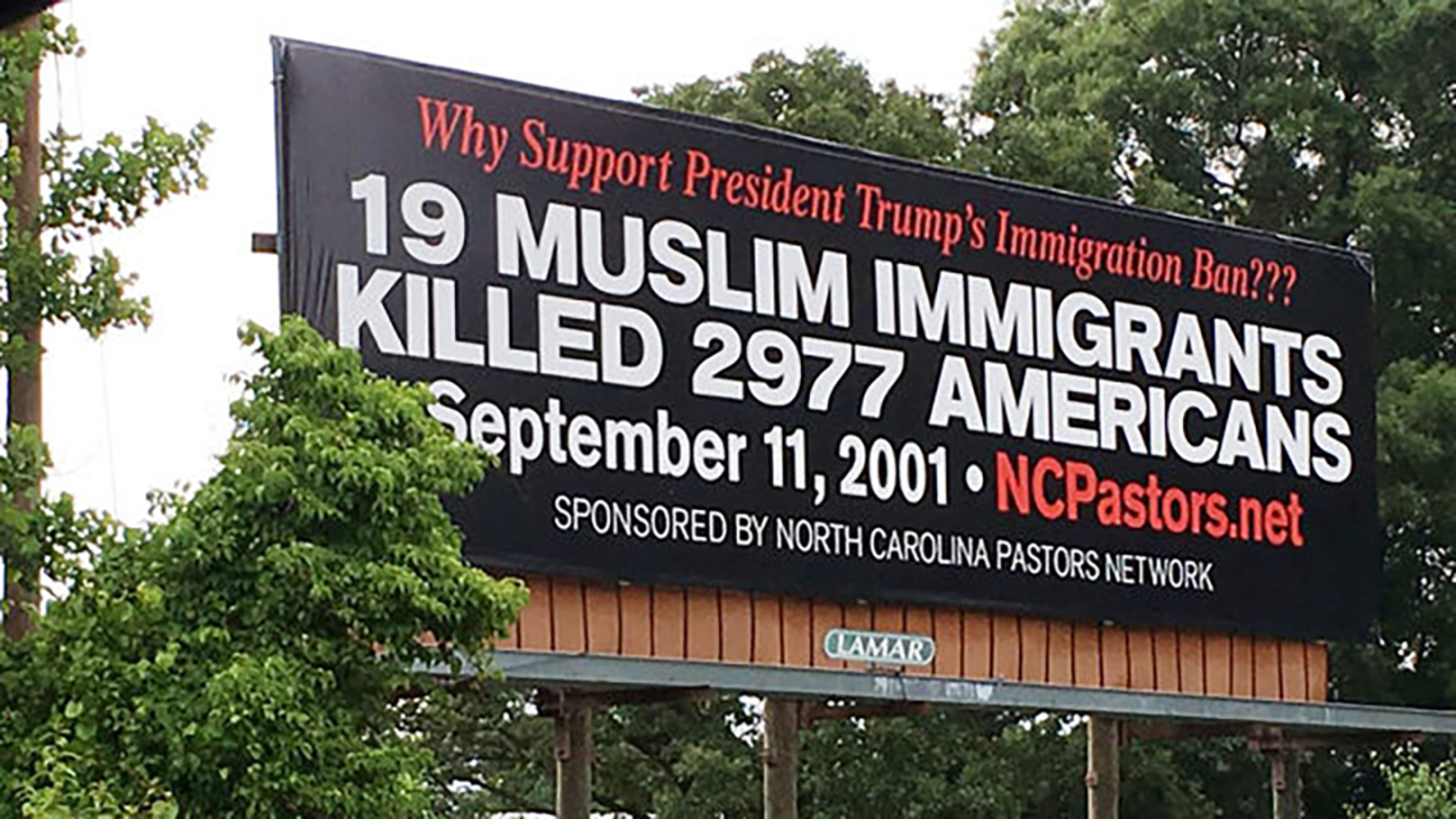 Religious group's controversial billboard along I-40 sparks debate | abc11.com