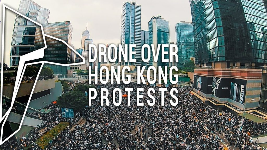 Someone created this insane drone video of Wednesday's protests in Hong Kong – Shanghaiist