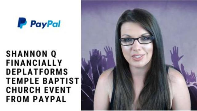 Shannon Q Financially Deplatforms Temple Baptist Church Event From PayPal