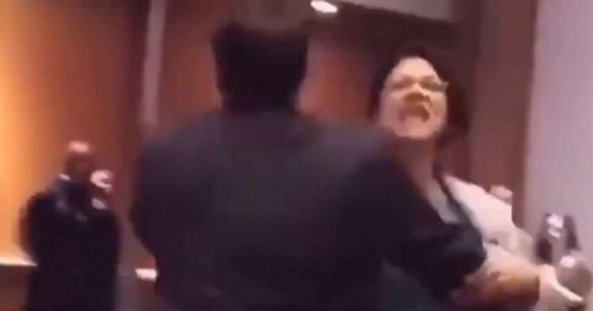 Watch Rashida Tlaib Screaming As She Is Forcefully Removed From Trump Event