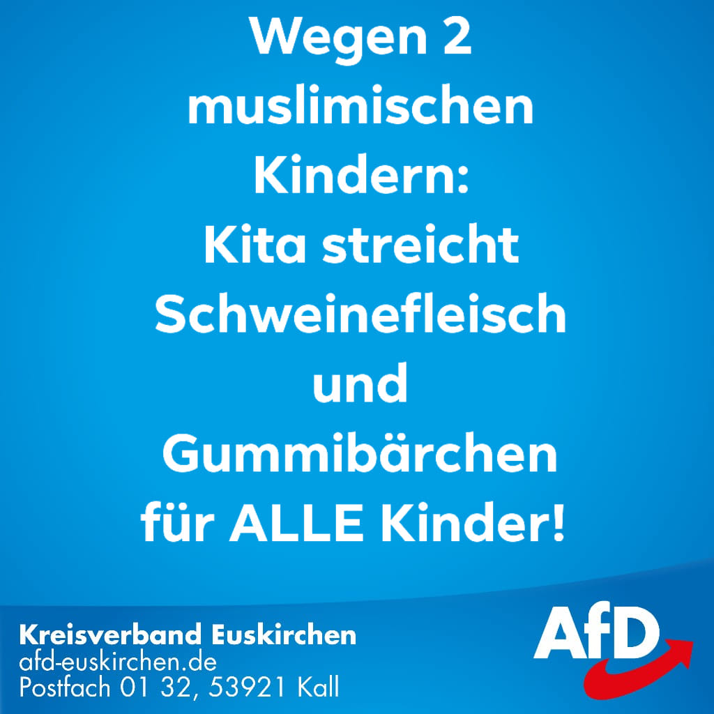 Sie denken, es handelt sich um einen... - Alternative für Deutschland AfD - Kreisverband Euskirchen | Facebook