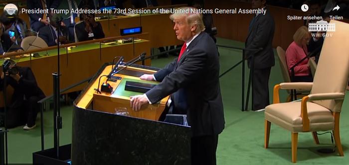 """Präsident Trump: Ich werde die Vereinten Nationen daran hindern, eine """"Weltregierung"""" zu bilden. - news-for-friends.de"""