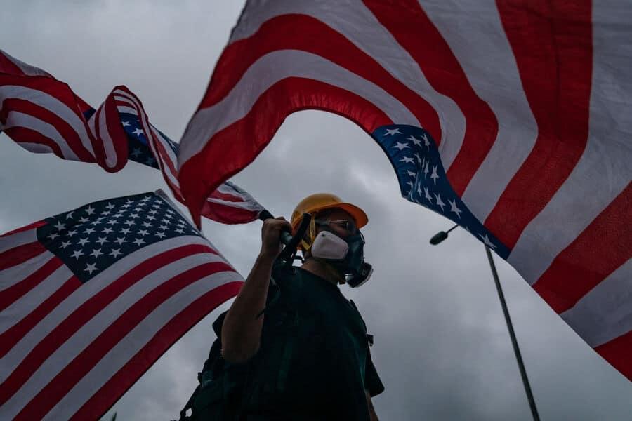 Hong Kong Protesters Sing American National Anthem - Jonathan T Gilliam