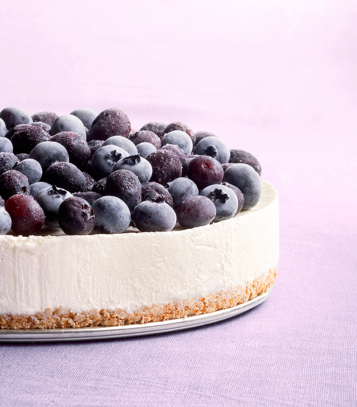 Consider blueberry cheesecake