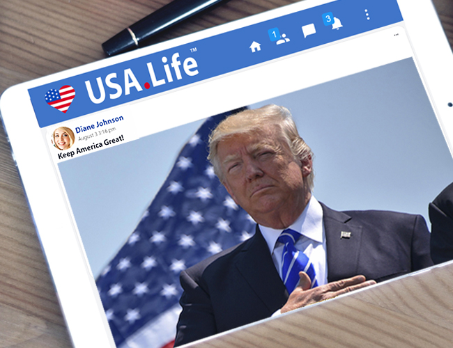 "Pro-America USA.Life Social Network CEO Responds to Conservative Censorship, ""Conservatives are Safer at USA.Life than on Other Social Media"" - AmericaFirst.win"