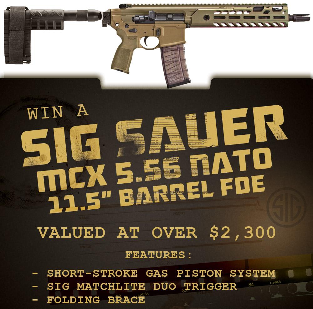 Contest - Win A FDE Sig Sauer MCX Pistol