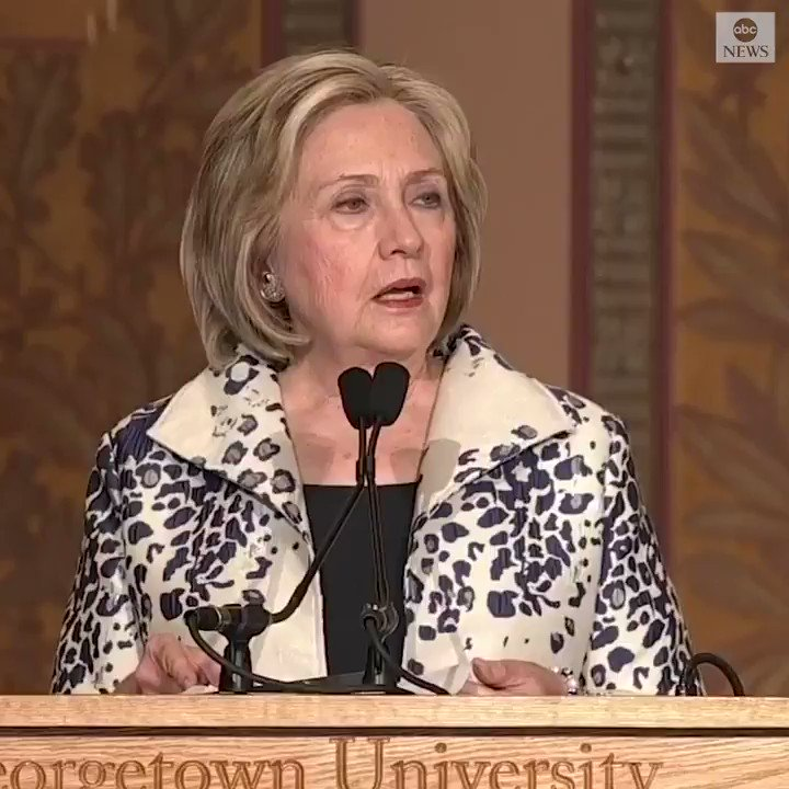 """ABC News Politics on Twitter: """"Hillary Clinton: Pres. Trump """"has turned American diplomacy into a cheap extortion racket."""" https://t.co/6KN8d91stk… """""""