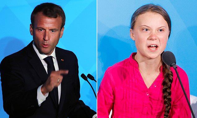 Greta Thunberg is 'likely to antagonise societies' Emmanuel Macron warns | Daily Mail Online