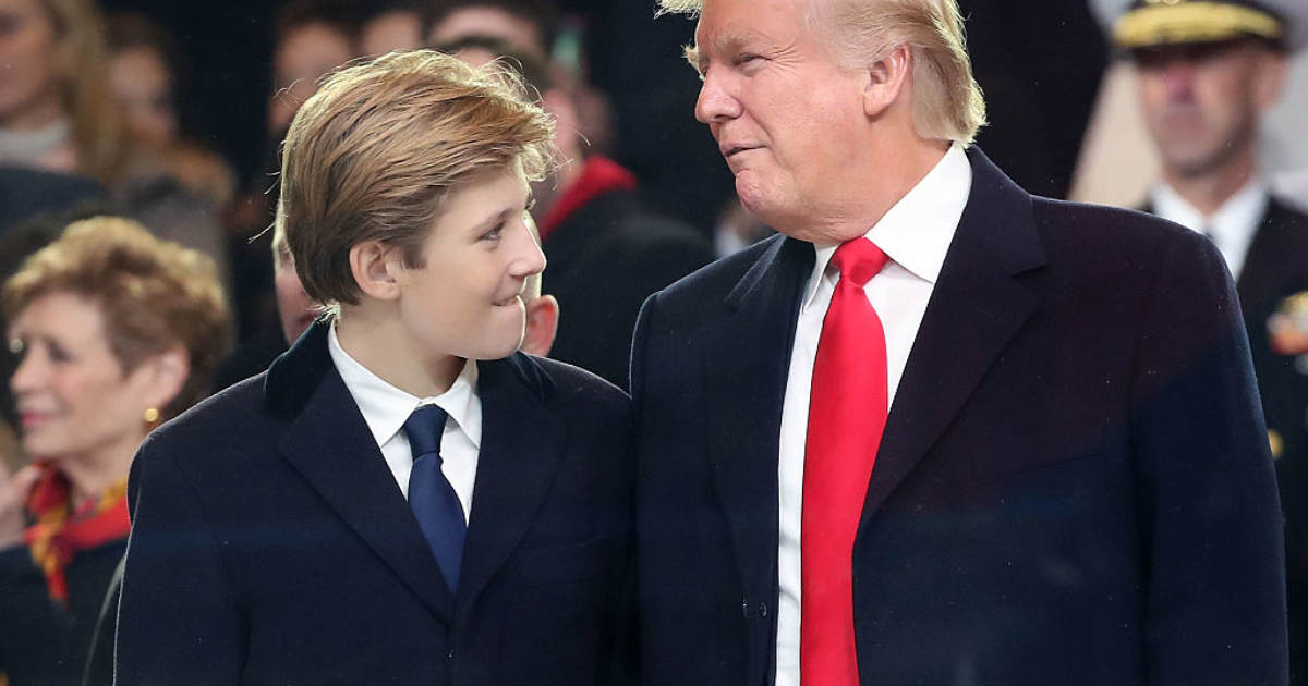 SHAME! MSNBC Host Suggests Trump Isn't Biological Father Of Son Barron
