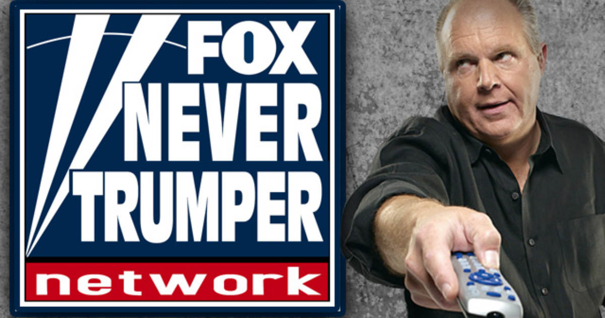 """RUSH LIMBUAGH Goes Off on FOX News: They Should Change their name to """"FOX Never Trumper Network"""""""