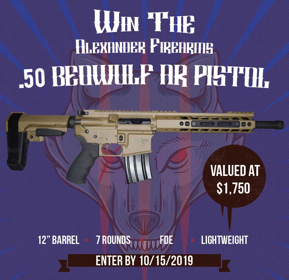 Contest - Win An Alexander Firearms .50 Beowulf AR Pistol