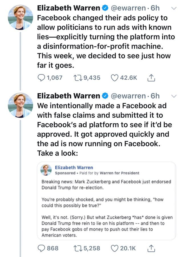 """Remember LochTheScot on Twitter: """"Warren just admitted to falsifying information on Facebook… """""""