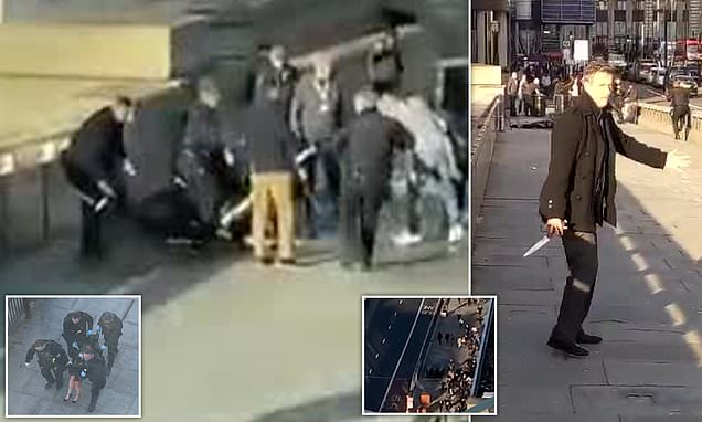 London Bridge terrorist killed two before police shot him dead | Daily Mail Online