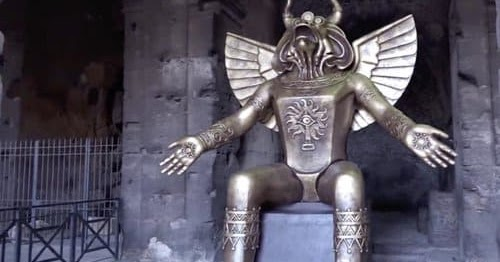 Giant Statue Of Molech Now Sits At Entrance To The Colosseum In Rome