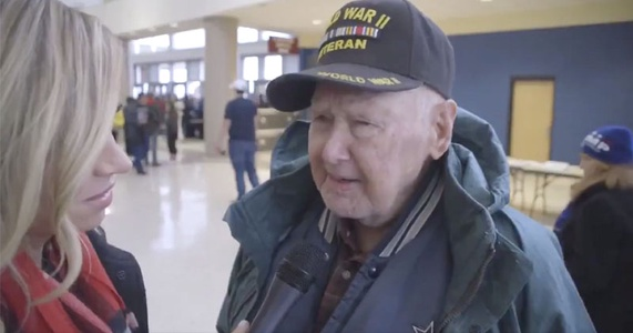 """""""The first real president in my 96 years"""" says World War II veteran 