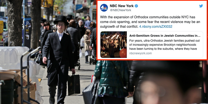 WORST TAKE: NBC New York Says That The Rise In Anti-Semitic Attacks Can Be Blamed On The Jewish Community