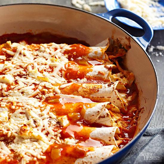 Cook homemade enchilladas
