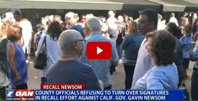 County Officials Refuse To Turn In Recall Signatures Against California Governor? - Conservative Daily Post