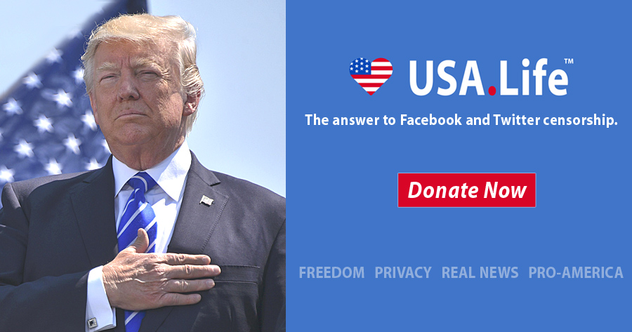 USA.Life Is the Answer to Facebook Censoring Christians, Conservatives and Liberty.