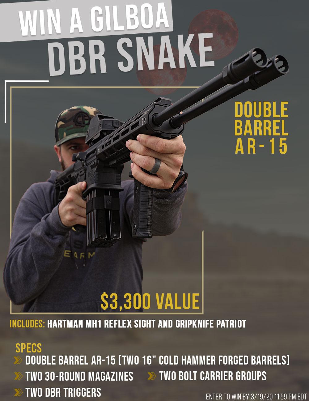Contest - Win A Gilboa DBR Snake Double Barrel Rifle