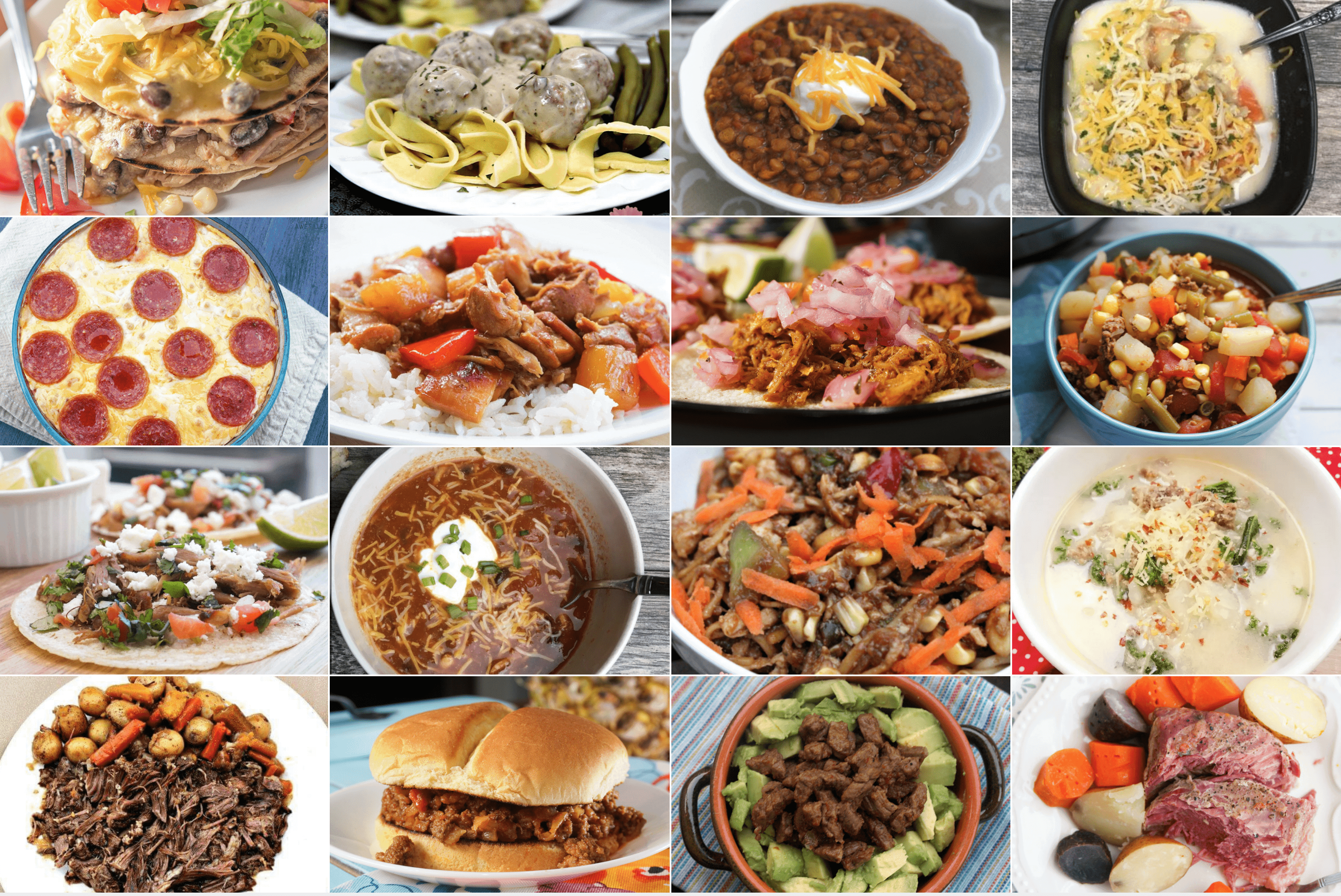 Instant Pot Meal Plan - One Happy Housewife