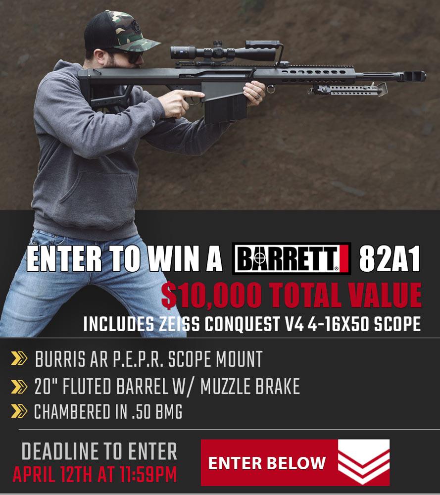 Contest - Win A Barrett 82A1 Rifle w/ Zeiss Conquest 4-16x50 Scope
