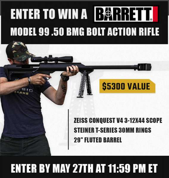 Contest - Win A Barrett M99 Bolt Action Rifle w/ Zeiss Conquest 3-12x44 Scope