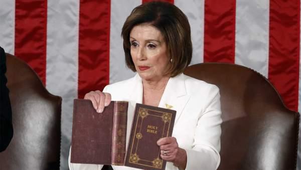 In Bold Anti-Trump Statement, Pelosi Rips Up Bible | The Babylon Bee