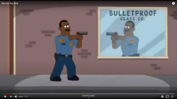 Hilarious cartoon video parody: Black cop shoots himself in the groin. CNN rushes in, accusing the cop of shooting an innocent black man. It gets funnier! ⋆ Powdered Wig Society