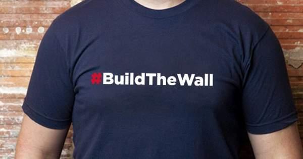 #BuildTheWall Tee                      – Trump Make America Great Again Committee