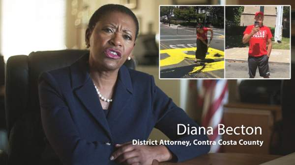 DA Diana Becton Charges Couple With HATE CRIME For Painting Over BLM Mural