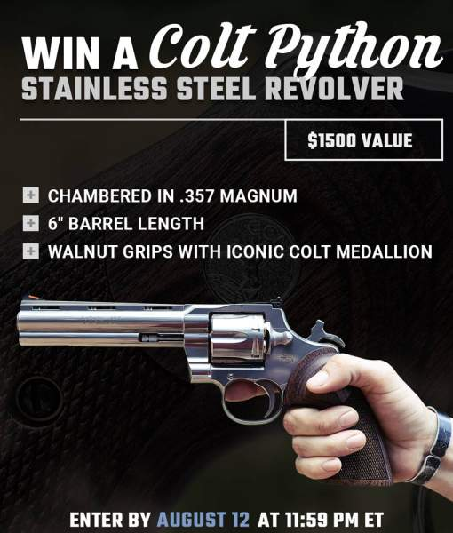 Contest - Win A Colt Python Stainless Steel Revolver
