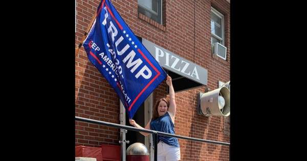 Woman tries to cancel pizza joint for flying Trump flag, but Trump steps in