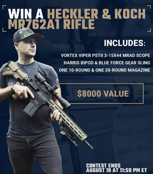 Contest - Win A Heckler & Koch MR762A1 Rifle w/ Vortex Viper PSTII Scope