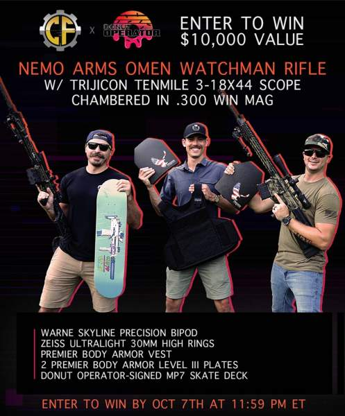 Contest - Win A Nemo Arms Omen Watchman Rifle w/ Trijicon Tenmile 3-18x44 Scope