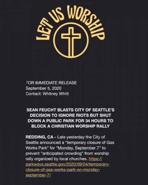 Sean Feucht - Sean Feucht added a new photo — in Seattle,... | Facebook