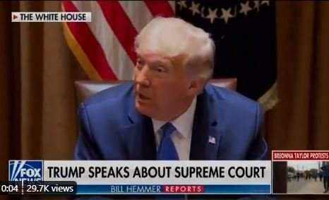 """I think this Scam that the Democrats are Pulling - This Scam Will be Before the United States Supreme Court"" -- BRAVO! President Trump Says His Nominee Is Needed on Supreme Court"