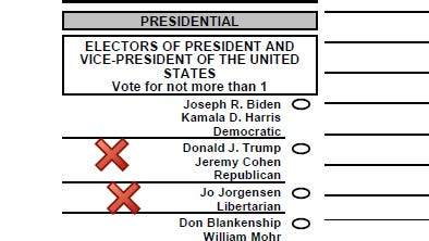 400-plus Michigan overseas ballots list wrong running mate for Trump