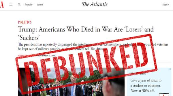 FACT CHECK: Newly Released Documents Show That The Atlantic Story is a Complete Hoax - Sentry Bugle