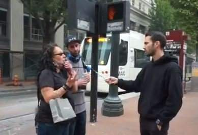"""Portland Woman to Reporter on Murdered Trump Supporter: """"Tough Luck. Don't Be a F**king Trump Supporter in Portland"""" (VIDEO)"""