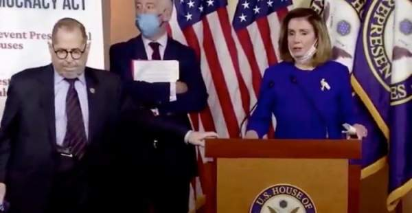 What is Wrong with Nadler? Jerry Nadler Loses His Balance, Awkwardly Shuffles Away as Pelosi Gives Presser (VIDEO)